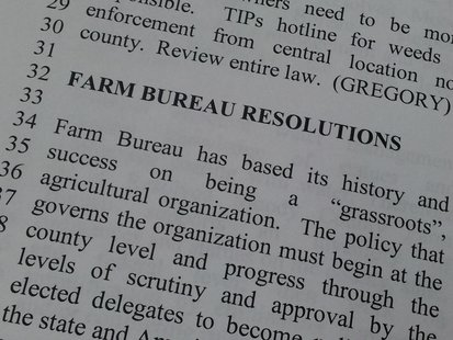 15 county Farm Bureau chairmen or vice chairmen took part in the State Resolutions Committee process, representing county Farm Bureaus from across the state. (SDFB.org)