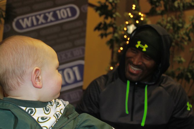 James Jones eyes a young fan