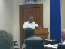 Fire Chief Jeff Hermann addresses Committee of the Whole
