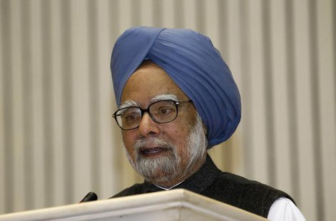 India's Prime Minister Manmohan Singh speaks during the meeting of the 57th National Development Council (NDC) in New Delhi December 27, 201