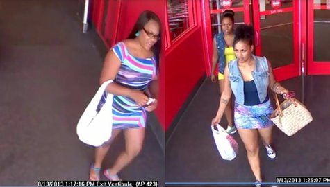 Suspects sought in counterfeit money incidents at Bellevue Target store on Aug. 13, 2013. (Photo by: Brown County Sheriff's Department).