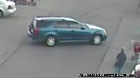 Vehicle used in counterfeit money incidents at Bellevue Target store on Aug. 13, 2013. (Photo by: Brown County Sheriff's Department).