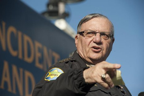 Maricopa County Sheriff Joe Arpaio announces newly launched program aimed at providing security around schools in Anthem, Arizona, January 9