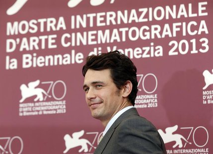 "Director and actor James Franco poses during a photocall for his movie ""Child of God"" during the 70th Venice Film Festival in Venice August"