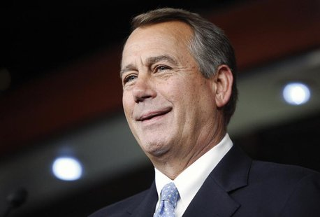 U.S. House Speaker John Boehner (R-OH) smiles during a news conference at the U.S. Capitol in Washington, June 20, 2013. REUTERS/Jonathan Er