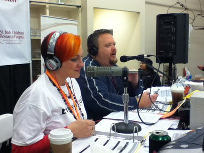 Nikki Montgomery and Bryan Scott during the St. Jude's Radiothon
