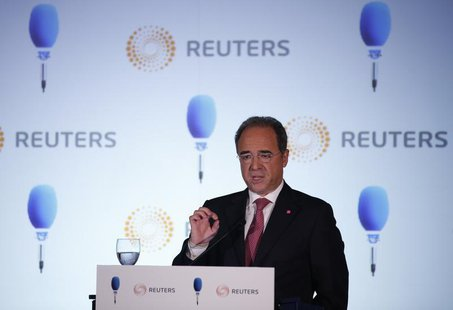 Millennium BCP bank CEO Nuno Amado speaks during a conference organised by Reuters and TSF radio in Lisbon May 30, 2013. REUTERS/Rafael Marc
