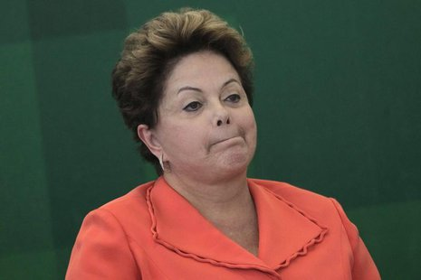 Brazil's President Dilma Rousseff participates in the inaugural ceremony for the new Minister of Foreign Affairs of Brazil Luiz Alberto Figu