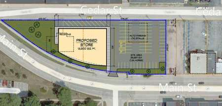 New Leaf Market's site plans for 800 and 900 blocks of Cedar Street