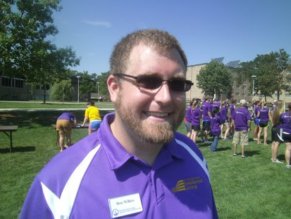 UWSP's Ben Wilkes, Co-Coordinator for Labor of Love effort.
