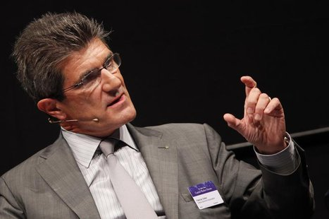 Patrick Odier, Chairman of the Swiss Bankers Association and Senior Partner of private bank Lombard Odier (LODH) gestures during the Capital