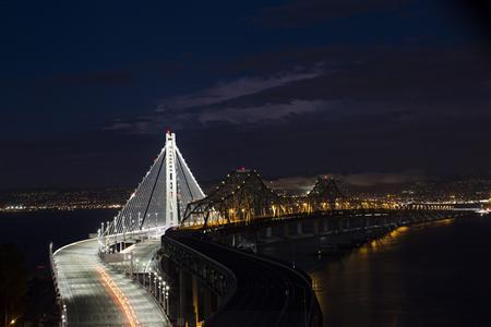 The new eastern span of the San Francisco-Oakland Bay bridge is illuminated in San Francisco, California September 2, 2013. REUTERS/Stephen Lam