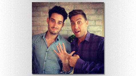 Image courtesy of Image courtesy Lance Bass via Instagram (via ABC News Radio)