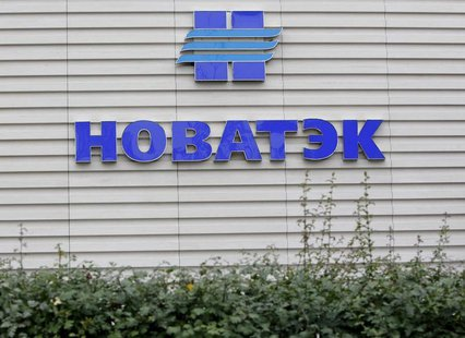 A company logo is seen at the sales office of Novatek, Russia's largest independent natural gas producer, in Moscow September 16, 2012. REUT