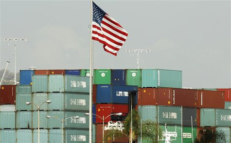 China Shipping containers lie on the dock after being imported to the U.S. in Los Angeles, California, October 7, 2010. REUTERS/Lucy Nichols
