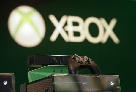 A Xbox One console is pictured at the Microsoft Games exhibition stand during the Gamescom 2013 fair in Cologne August 23, 2013. REUTERS/Ina
