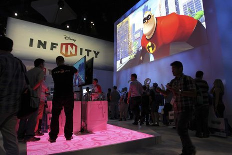 People visit the Disney Infinity exhibit at E3, the Electronic Entertainment Expo, in Los Angeles, California, June 11, 2013. REUTERS/David