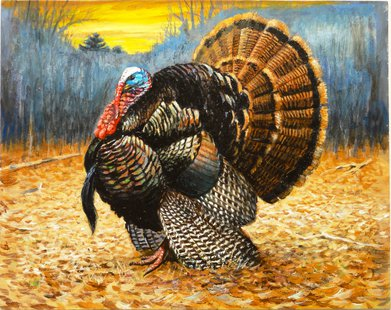2014 Wild Turkey Stamp by Virgil Beck of Stevens Point
