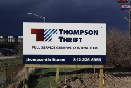 Thompson Thrift Sign