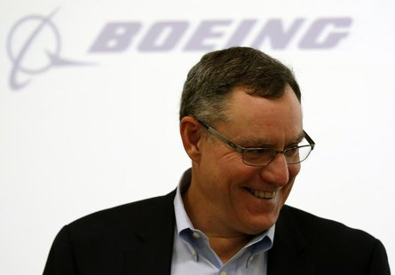 Scott Fancher, Boeing Commercial Airplanes vice president and general manager, head of aircraft development, attends a news conference on th
