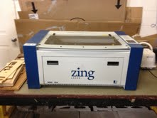 A laser engraver that will be used by Elkhart Lake-Glenbeulah school district students.