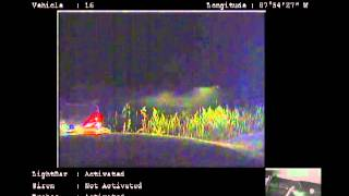 A still image of the video taken by the squad vehicle that performed the PIT maneuver following that action.