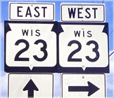 Highway 23 signs