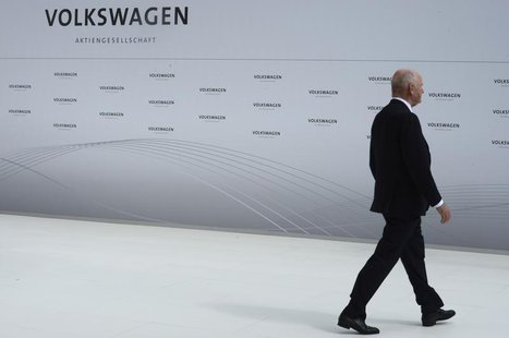 Ferdinand Piech, chairman of the supervisory board of Volkswagen is pictured during a welcome ceremony at the plant of German carmaker Volks