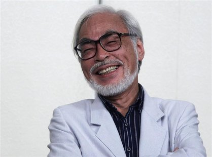 Japanese director Hayao Miyazaki speaks during a news conference held to announce his retirement from film in Tokyo September 6, 2013. REUTE