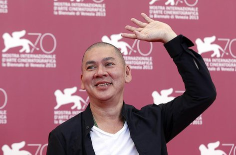 "Director Tsai Ming-Liang, poses during a photocall for the movie ""Stray Dogs"", directed by him, during the 70th Venice Film Festival in Veni"