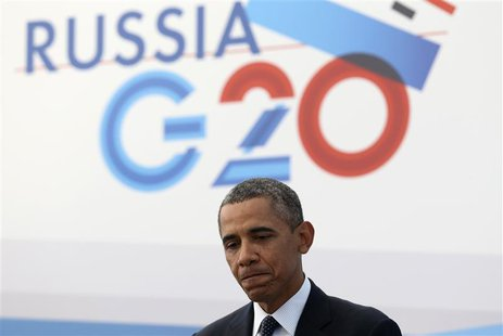 U.S. President Barack Obama speaks to the media during a news conference at the G20 summit in St.Petersburg September 6, 2013. REUTERS/Serge