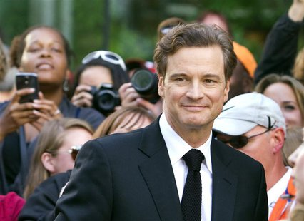 "British actor Colin Firth arrives for the film premiere of ""Railway Man"" at the 38th Toronto International Film Festival in Toronto Septembe"