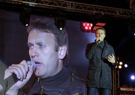 Opposition leader Alexei Navalny speaks to supporters during a rally in central Moscow September 6, 2013. REUTERS/Tatyana Makeyeva