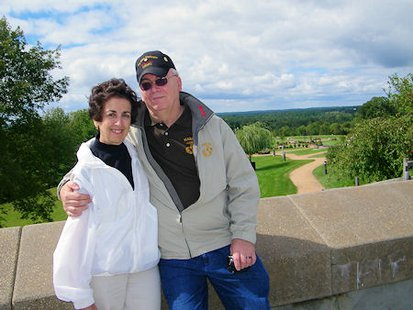 Tom and Rose Marie Miller, founders of the Highground Memorial near Neillsville, WI.