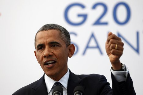 U.S. President Barack Obama speaks during a news conference at the G20 Summit in St. Petersburg, Russia September 6, 2013. REUTERS/Kevin Lam