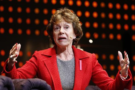 Neelie Kroes, European Commission vice-president for the Digital Agenda, attends the LeWeb technology conference December 5, 2012 in Aubervi