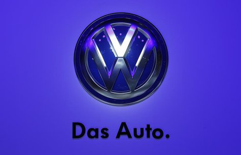 The logo of Volkswagen is pictured during a media preview day at the Frankfurt Motor Show (IAA) September 10, 2013. REUTERS/Pawel Kopczynski