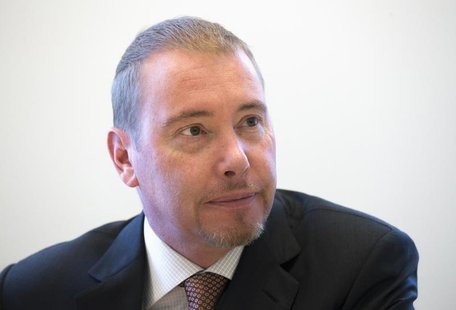 Jeffrey Gundlach, star bond investor and head of DoubleLine Capital LP, is photographed during an interview in New York May 15, 2013.REUTERS