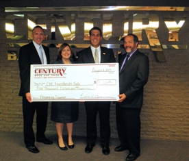 Century Bank and Trust donation to Community Health Center of Branch County Foundation as presenting sponsor for 2013 Gala