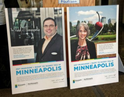 Minneapolis posters promoting gay marriage tourism (Photo: Wisconsin Radio Network)