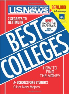 2013 U.S. News & World Report Best Colleges cover