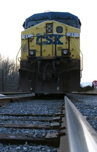 CSX Train On Tracks - file photo
