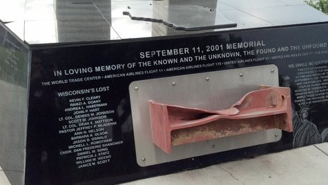 Downtown Green Bay's 9-11 Memorial (Photo by: WTAQ Reporter Jeff Flynt).