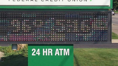 This credit union sign on West Main recorded a temperature of 96-degrees late yesterday afternoon.