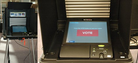 touch screen voting machine example