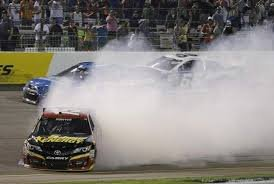 Clint Bowyer spins out during Saturday nights race at Richmond.