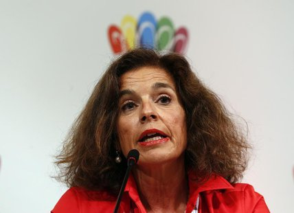 Madrid's Mayor Ana Botella speaks during a news conference in Buenos Aires, on Madrid's candidacy for the 2020 summer Olympics, September 4,