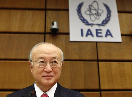 International Atomic Energy Agency (IAEA) Director General Yukiya Amano waits for a board of governors meeting to begin at the IAEA headquar