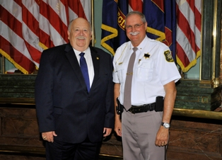 State Representative Ken Kurtz and Branch County Sheriff John Pollack at State Capitol
