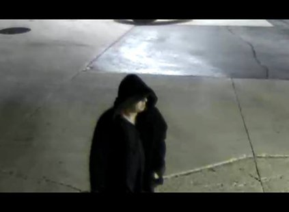 The surveillance video still of the suspect, alleged to be Robert Seidler Jr., outside the MSM Mini Mart August 21.